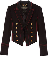 Burberry Double-breasted Wool-blend Twill Blazer - Black