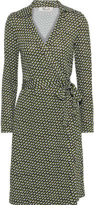 Diane von Furstenberg New Jeanne Two Leopard-print Silk-jersey Wrap Dress
