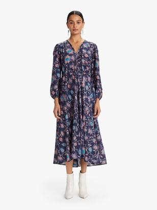XiRENA Phoebe Silk Cotton Dress - Dark Ink