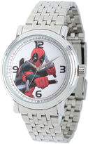 Marvel Mens Deadpool Sword Silver-Tone Stainless Steel Bracelet Watch