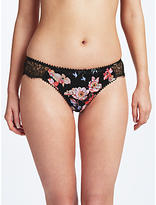 Somerset by Alice Temperley Alice Peony Rose Print Briefs, Black/Multi