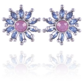 Nanette Lepore Celestial Starburst Button Earrings