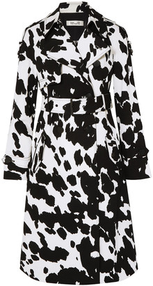 Diane von Furstenberg Kaia Printed Stretch-cotton Twill Trench