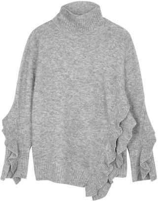 3.1 Phillip Lim Grey ruffle-trimmed jumper
