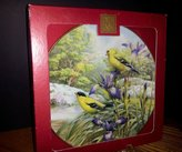 Lenox 2002 Four Seasons Collector Plate Goldfinches in Spring Catherine McClung NEW in Box