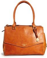 Fiorelli Harper Triple Compartment Croc Embossed Shoulder Bag - Tan