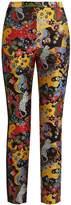 Mary Katrantzou Slick psychedelic-jacquard slim-leg trousers