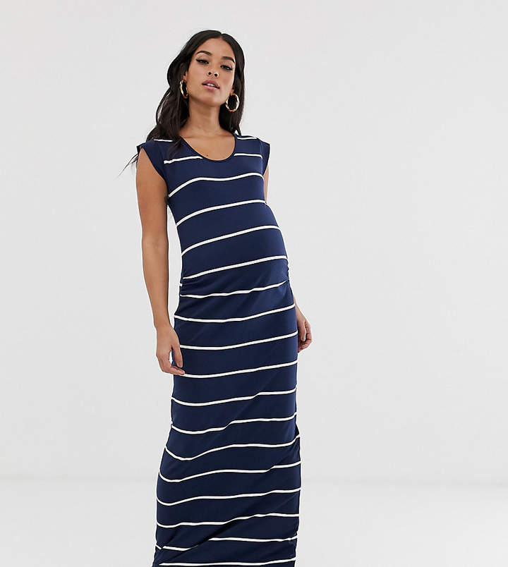 f07df97c156 Striped Maternity Maxi Dress - ShopStyle UK