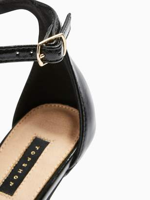 Topshop Sage Curved Heel Sandals - Black