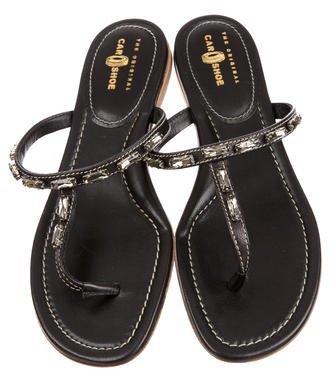 Car Shoe Embellished Slide Sandals w/ Tags