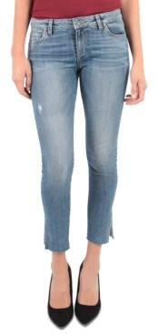KUT from the Kloth Mid-Rise Reese Side-Slit Ankle Jeans