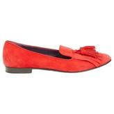 Prada Red Suede Flats