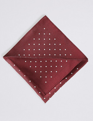 Marks and Spencer Pure Silk Spot Print Pocket Square