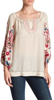 Max Studio Paisley Embroidered Blouse
