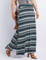 Charlotte Russe Plus Size Side Slit Maxi Skirt