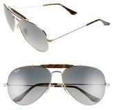 Ray-Ban Men's 'Outdoorsman Ii' 62Mm Sunglasses - Gold/ Grey Gradient