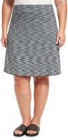 Soybu Wanderlust Space-Dye Midi A-Line Skirt, Black, Plus Size