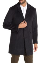 John Varvatos Devin Wool Blend Top Coat