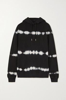 Ninety Percent Tie-dyed Organic Cotton-jersey Hoodie - Black