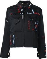 Versace embroidered bomber jacket - women - Cotton/Polyester/Viscose/Spandex/Elastane - 40
