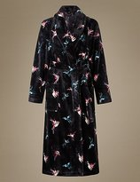 M&S Collection Printed Shimmer Dressing Gown