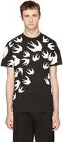 McQ by Alexander McQueen Black & White Swallows T-Shirt