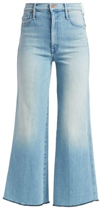 Mother Sunburst Roller Unfinished Cropped Wide-Leg Jeans