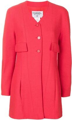 Chanel Pre Owned 1996 V-neck jacket
