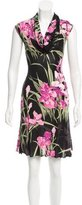 Blumarine Sleeveless Floral Dress