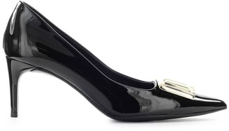 Love Moschino Black Patent Pump With Gold Logo