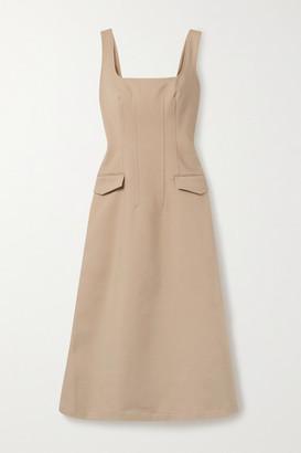 Dion Lee Frame Cotton-blend Midi Dress - Beige