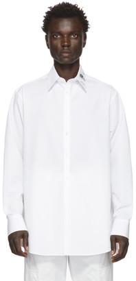 Valentino White Graphic Collar Shirt