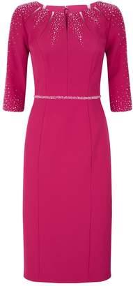 John Charles Crystal-Embellished Dress
