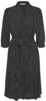 Gestuz Black and White Check Viscose Denice Dress - viscose | black white | 38 - Black white