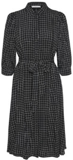Gestuz Black and White Check Viscose Denice Dress - viscose | black white | 38 - Black white