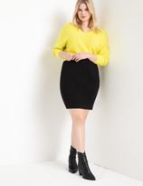 ELOQUII Ponte Mini Skirt
