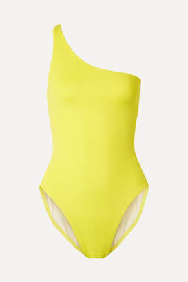 Norma Kamali Mio One-shoulder Neon Swimsuit - Yellow
