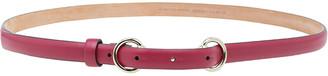 Gucci Red Leather Horsebit Skinny Belt 85CM