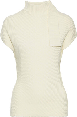 Narciso Rodriguez Ribbed Wool Turtleneck Top