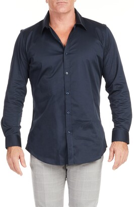 Johnny Bigg Bahamas Regular Fit Solid Stretch Dress Shirt