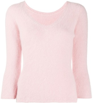 Roberto Collina V-Neck Knitted Jumper