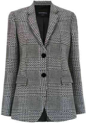Emporio Armani Slim-Fit Checked Blazer