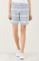 J. Jill Linen Mixed-Stripes Drawstring Shorts