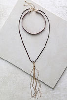 LuLu*s Quiet Sunset Gold and Brown Necklace Set
