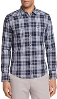 BOSS ORANGE Plaid Slim Fit Western Button-Down Shirt