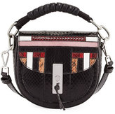 Altuzarra Ghianda Snakeskin Mini Saddle Bag, Multipattern