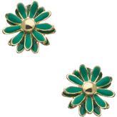 Blu Bijoux Small Green Flower Stud Earrings