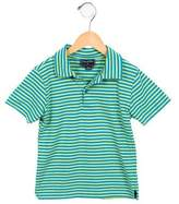 Oscar de la Renta Boys' Striped Short Sleeve Shirt