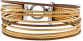 Charriol Tri-Color Multi-Cable Bracelet