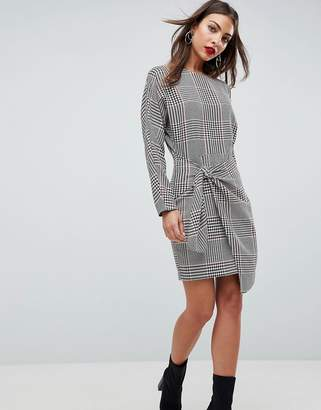 Asos Checked 80's Mini Dress with Circle Belt